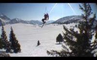 Snowkite dans les Alpes
